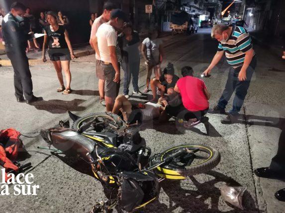 Atropellan a joven motociclista en Tampico.