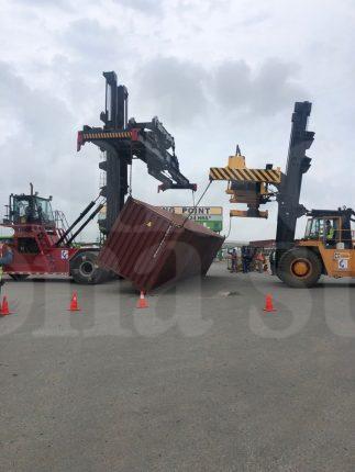 Accidente se registra esta tarde al interior de la Administración Portuaria Integral de Altamira API.